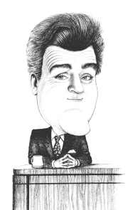 caricature of Jay Leno